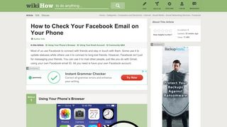 How to Check Your Facebook Email on Your Phone: 11 Steps