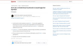 How to switch from Facebook to email login for Spotify - Quora