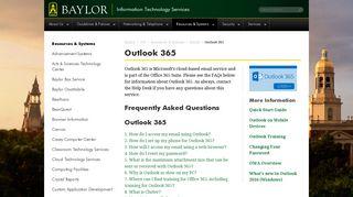 Outlook 365 | Information Technology Services | Baylor University