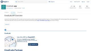 EmailLabs API: How To Use the API   RapidAPI