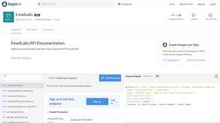 EmailLabs API Documentation (dimashirokov)   RapidAPI