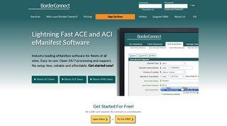 BorderConnect   ACE/ACI eManifest Portal with PARS/PAPS Tracking