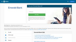 Emerald Bank: Login, Bill Pay, Customer Service and Care Sign-In