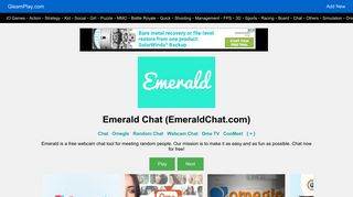 Chat omegle alternative emerald Is Emerald