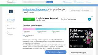 Access eminata.ecollege.com. Campus-Support - Welcome