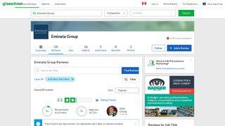 Eminata Group Reviews | Glassdoor.ca
