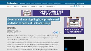 Government investigating how private email ended up in hands of ...