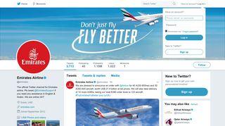Emirates Airline (@emirates)   Twitter