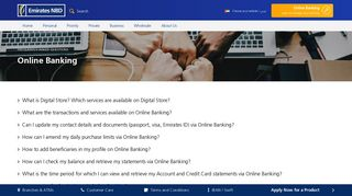 Online Banking   Frequently Asked Questions   Emirates NBD