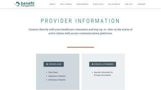 Provider - Benefit Management