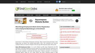 West Bengal Employment Bank Online Registration www ...