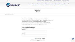 Agent Portal   Empower Brokerage