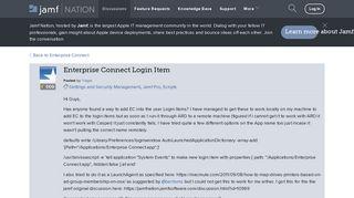 Enterprise Connect Login Item | Discussion | Jamf Nation