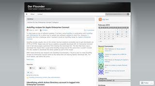 Enterprise Connect | Der Flounder
