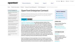 Enterprise Connect for Content Management | OpenText
