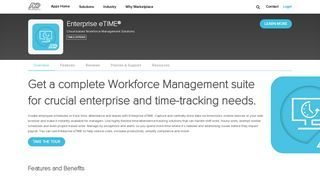 Enterprise eTIME® by ADP, LLC | ADP Marketplace