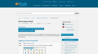 How to Login to cPanel | Web Hosting Hub