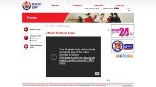 EPF - i-Akaun Employer Login - KWSP