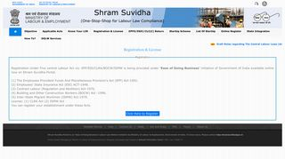 Registration & License - Shram Suvidha - Unified Portal for Labour ...