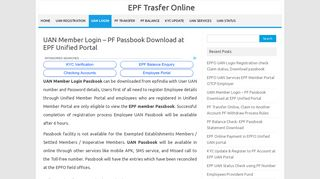 UAN Member Login – PF Passbook Download at EPF Unified Portal