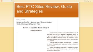Best PTC Sites Review, Guide and Strategies: Review on EpicClix ...