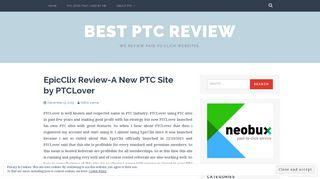 EpicClix Review-A New PTC Site by PTCLover – Best PTC Review