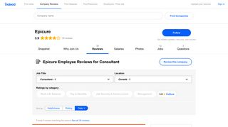 Working as a Consultant at Epicure: Employee Reviews   Indeed.com