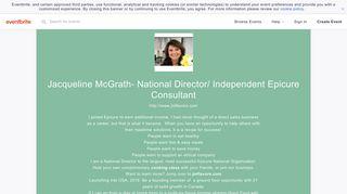 Jacqueline McGrath- National Director/ Independent Epicure ...