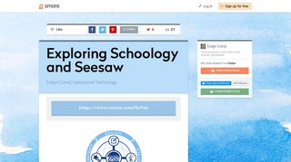 Exploring Schoology and Seesaw | Smore Newsletters for Education