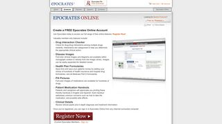 Create a FREE Epocrates Online Account
