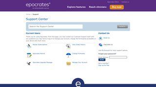 Support Center | Epocrates