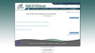 Application for Licensure as a Psychologist - California Board of ...