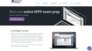 Frequently Asked Questions - About the EPPP - Academic Review