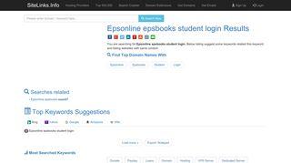 Epsonline epsbooks student login Results For Websites Listing