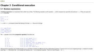 Conditional execution - PythonLearn
