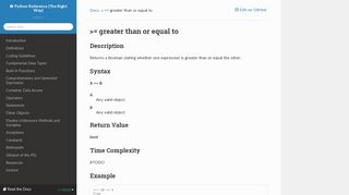 = greater than or equal to — Python Reference (The Right Way) 0.1 ...