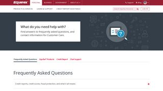 Equifax | Contact Us | Customer Service