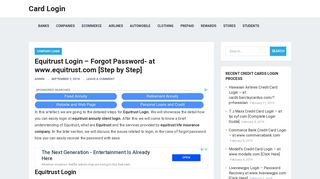 Equitrust Login – Forgot Password- at www.equitrust.com [Step by ...