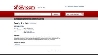 Equity 4 U Inc. - Directory - Finance & Insurance