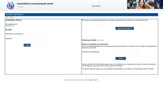 ITU e-Recruit - Access your Profile
