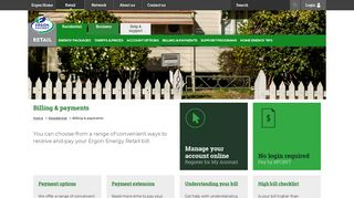 Billing And Payments - Residential - Ergon Energy