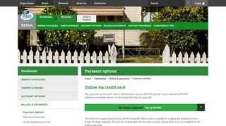 Residential Payment Options - Ergon Energy