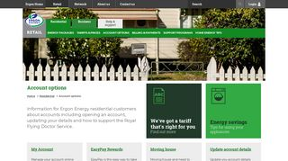 Account Options - Residential - Ergon Energy