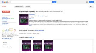 Exploring Raspberry Pi: Interfacing to the Real World with Embedded ...