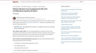 What is the best way to prepare for the SAP Certification Exam in ...
