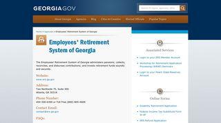 Employees' Retirement System of Georgia   Georgia.gov