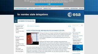 Access to ESA official meeting-related documents via eCPB ...