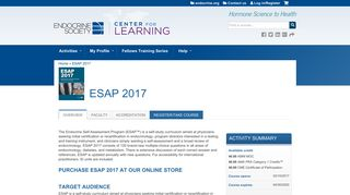 ESAP 2017 | the Endocrine Society Center for Learning