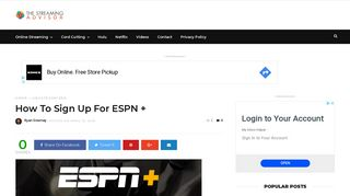 How To Sign Up For ESPN + | The Streaming Advisor