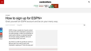 How to sign up for ESPN+ | CordCutters